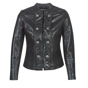 Textiel Dames Leren jas / kunstleren jas Naf Naf CMILI Zwart