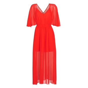 Textiel Dames Lange jurken Naf Naf CAMILLE R1 Rood