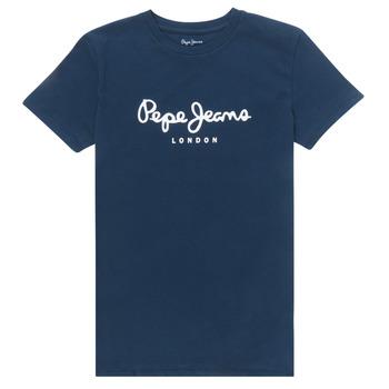 Textiel Jongens T-shirts korte mouwen Pepe jeans ART Marine
