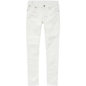 Textiel Meisjes Skinny Jeans Pepe jeans PIXLETTE Wit