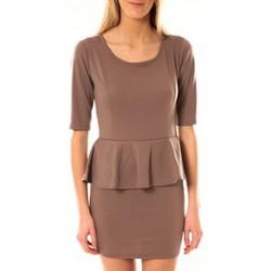 Textiel Dames Korte jurken Tcqb Robe Moda Fashion Taupe Bruin