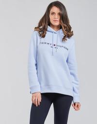 Textiel Dames Sweaters / Sweatshirts Tommy Hilfiger TH ESS HILFIGER HOODIE LS Blauw