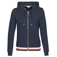 Textiel Dames Sweaters / Sweatshirts Tommy Hilfiger HERITAGE ZIP THROUGH HOODIE Marine