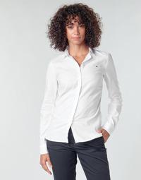 Textiel Dames Overhemden Tommy Hilfiger HERITAGE REGULAR FIT SHIRT Wit