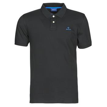 Textiel Heren Polo's korte mouwen Gant GANT CONTRAST COLLAR PIQUE POLO Zwart / Blauw