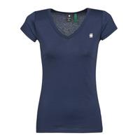 Textiel Dames T-shirts korte mouwen G-Star Raw Eyben slim v t wmn ss Sartho / Blauw