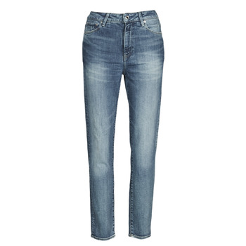 Textiel Dames Straight jeans G-Star Raw 3301 HIGH STRAIGHT 90'S ANKLE WMN Blauw