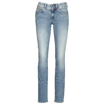 Textiel Dames Straight jeans G-Star Raw MIDGE MID STRAIGHT WMN Blauw
