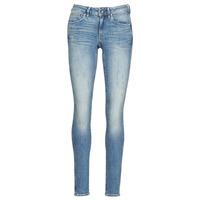Textiel Dames Skinny Jeans G-Star Raw MIDGE ZIP MID SKINNY WMN Blauw