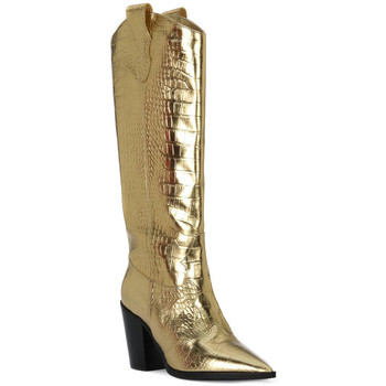 Schoenen Dames Hoge laarzen Priv Lab COCCO ORO Beige