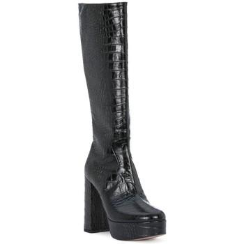 Schoenen Dames Hoge laarzen Priv Lab NERO COCCO Nero