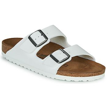 Schoenen Dames Leren slippers Birkenstock ARIZONA Wit