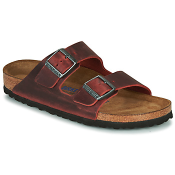 Schoenen Dames Leren slippers Birkenstock ARIZONA SFB LEATHER Bordeau