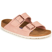 Schoenen Dames Leren slippers Birkenstock ARIZONA SFB LEATHER Roze