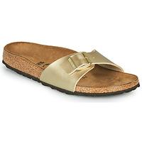 Schoenen Dames Leren slippers Birkenstock MADRID Goud / (goud)