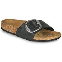 Schoenen Dames Leren slippers Birkenstock MADRID BIG BUCKLE Grijs / Donker
