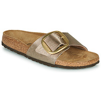 Schoenen Dames Leren slippers Birkenstock MADRID BIG BUCKLE Taupe / Brons