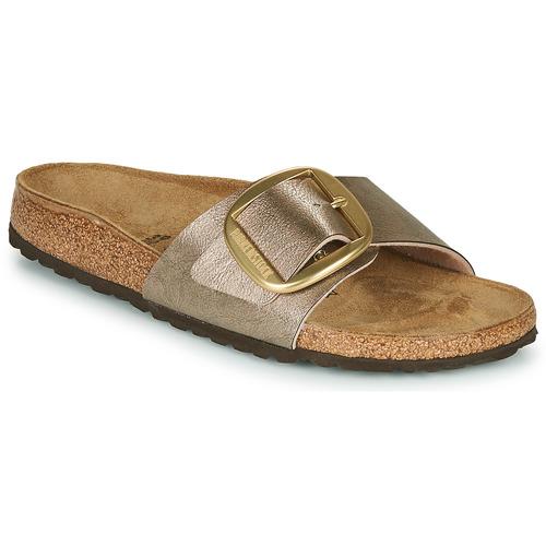 Schoenen Dames Leren slippers Birkenstock MADRID BIG BUCKLE Taupe