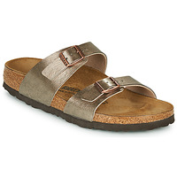 Schoenen Dames Leren slippers Birkenstock SYDNEY Brons