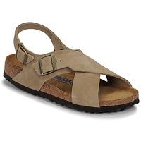 Schoenen Dames Sandalen / Open schoenen Birkenstock TULUM SFB LEATHER Taupe