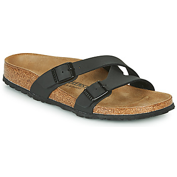 Schoenen Dames Leren slippers Birkenstock YAO BALANCE Zwart