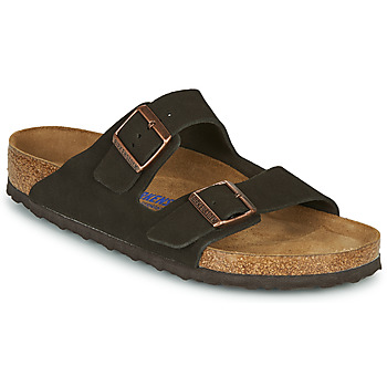 Schoenen Heren Leren slippers Birkenstock ARIZONA SFB LEATHER Bruin
