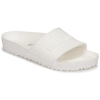 Schoenen Heren Leren slippers Birkenstock BARBADOS Wit