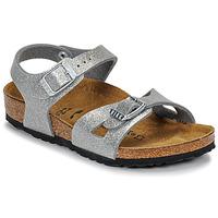 Schoenen Meisjes Sandalen / Open schoenen Birkenstock RIO Glitter / Zilver