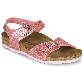 Schoenen Meisjes Sandalen / Open schoenen Birkenstock RIO PLAIN Kosmisch / Sparkle / Old / Roze