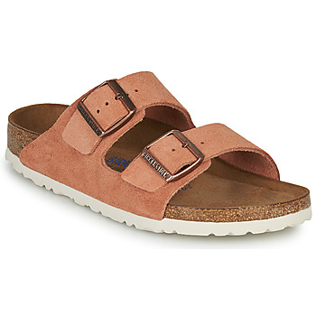 Schoenen Dames Leren slippers Birkenstock ARIZONA SFB LEATHER Roest