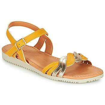 Schoenen Meisjes Sandalen / Open schoenen André TRESSIA Geel