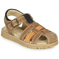 Schoenen Jongens Sandalen / Open schoenen André LEOPAUL Bruin
