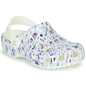 Schoenen Dames Klompen Crocs LIBERTY LONDON X CLASSIC LIBERTY GRAPHIC CLOG K Wit