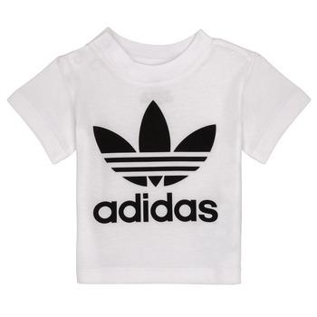 Textiel Kinderen T-shirts korte mouwen adidas Originals MAELYS Wit