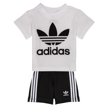 Textiel Jongens Setjes adidas Originals CAROLINE Wit / Zwart