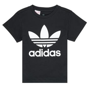 Textiel Kinderen T-shirts korte mouwen adidas Originals LEILA Zwart
