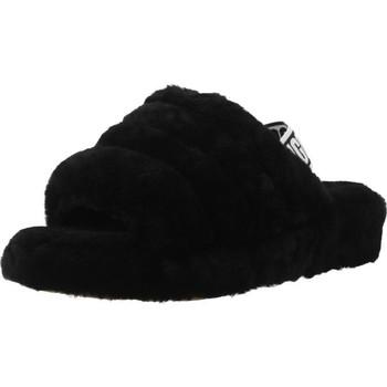Schoenen Dames Sloffen UGG FLUFF YEAH Zwart