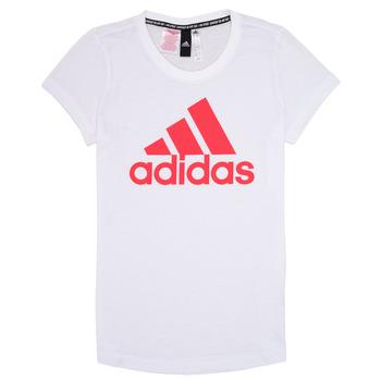 Textiel Meisjes T-shirts korte mouwen adidas Performance ELIOTE Wit
