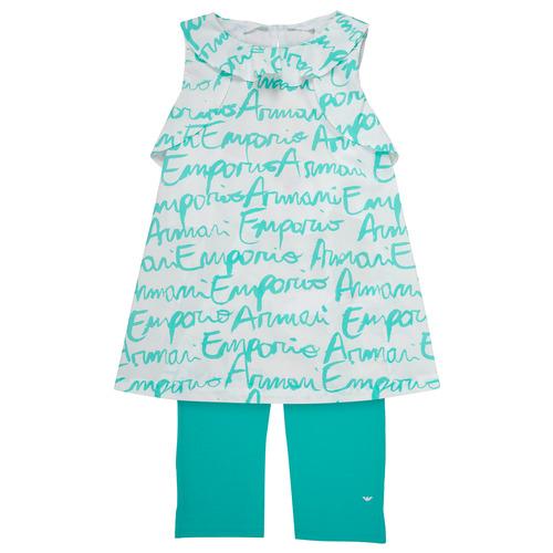 Textiel Meisjes Setjes Emporio Armani Adel Wit / Blauw