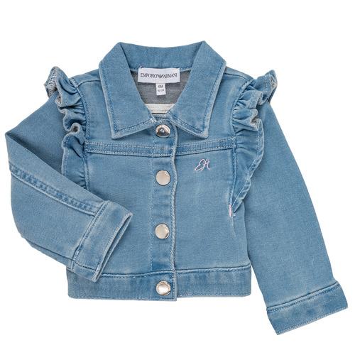 Textiel Meisjes Jasjes / Blazers Emporio Armani Aldric Blauw