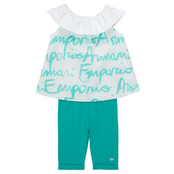 Textiel Meisjes Setjes Emporio Armani Alex Wit / Blauw
