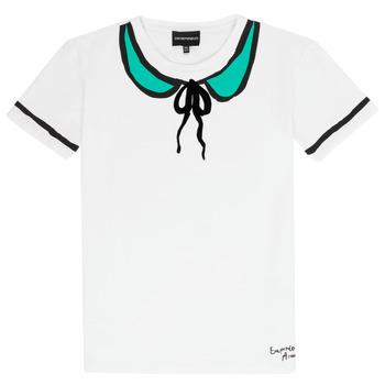 Textiel Meisjes T-shirts korte mouwen Emporio Armani Anthonin Wit