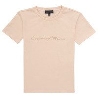 Textiel Meisjes T-shirts korte mouwen Emporio Armani Armel Roze