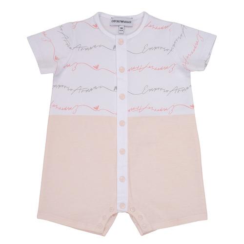 Textiel Meisjes Jumpsuites / Tuinbroeken Emporio Armani Adem Roze