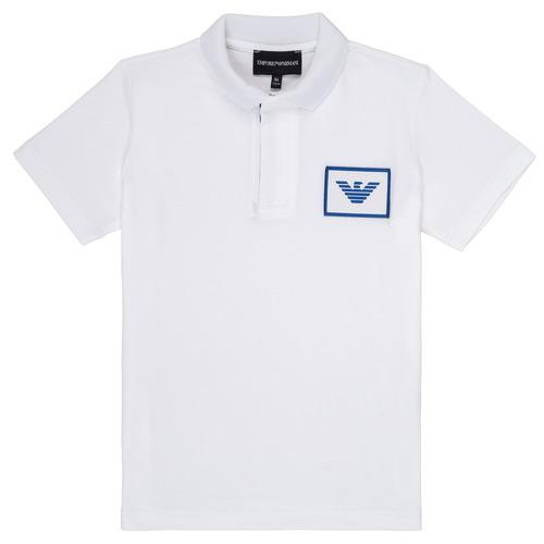 Textiel Jongens Polo's korte mouwen Emporio Armani Aime Wit