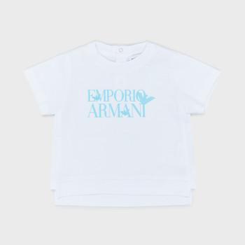Textiel Jongens T-shirts korte mouwen Emporio Armani Arthus Wit