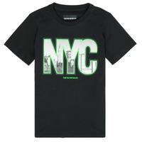 Textiel Jongens T-shirts korte mouwen Emporio Armani Ambroise Zwart