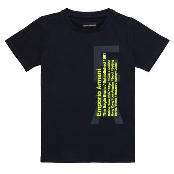 Textiel Jongens T-shirts korte mouwen Emporio Armani Andoni Marine
