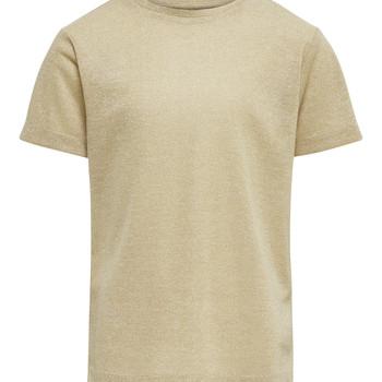 Textiel Meisjes T-shirts korte mouwen Only KONSILVERY Goud