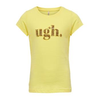 Textiel Meisjes T-shirts korte mouwen Only KONJULLA Geel